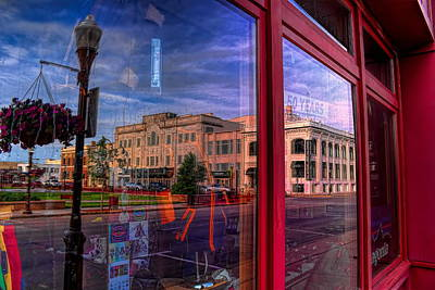 A Reflection Of Wausau's Grand Theater Poster by Dale Kauzlaric