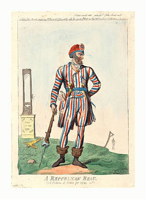 A Republican Beau, A Picture Of Paris For 1794, Cruikshank Poster by English School