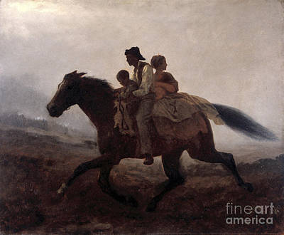 A Ride For Liberty Poster by Eastman Johnson