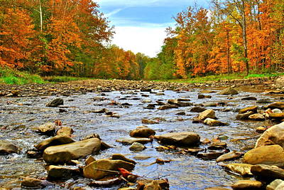 A River Runs Through It Poster by Frozen in Time Fine Art Photography