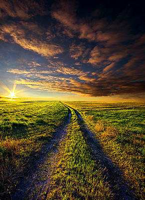 A Road To Nowhere In Particular Poster by Phil Koch