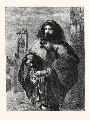 A Roman Bagpiper Poster