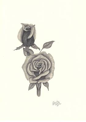 Poster featuring the drawing A Roses Beauty by Patricia Hiltz