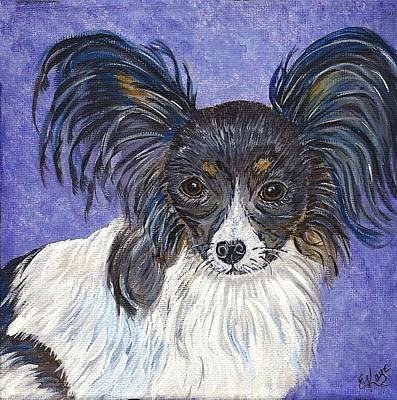Poster featuring the painting A Royal Papillon by Ella Kaye Dickey