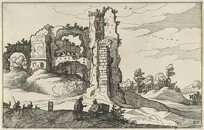 A Ruin With A Gate, Perhaps The Porta Furba In Rome Italy Poster