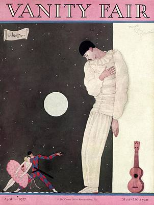 A Sad Reveler Poster by Georges Lepape