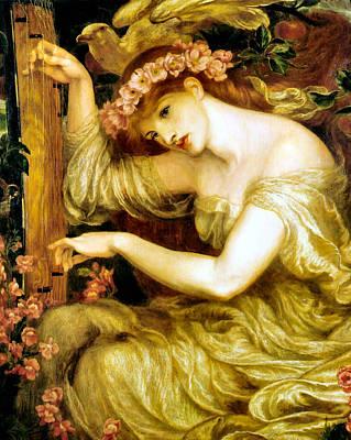 A Sea Spell Poster by Dante Gabriel Rossetti