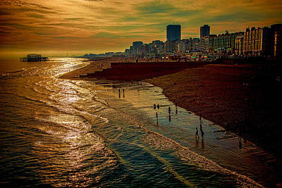 Poster featuring the photograph A September Evening In Brighton by Chris Lord