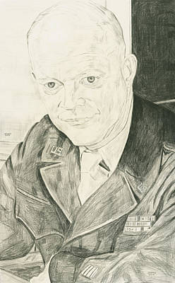 A Serious Eisenhower Poster by Dennis Larson
