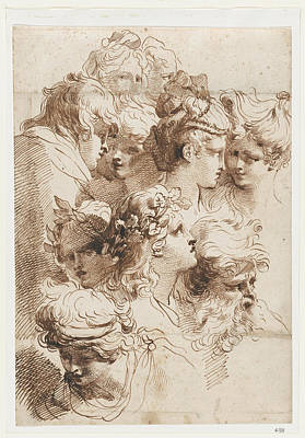 A Sheet Of Heads Poster by Mauro Gandolfi