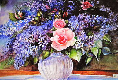 Poster featuring the painting A Simple Flower by Patricia Schneider Mitchell