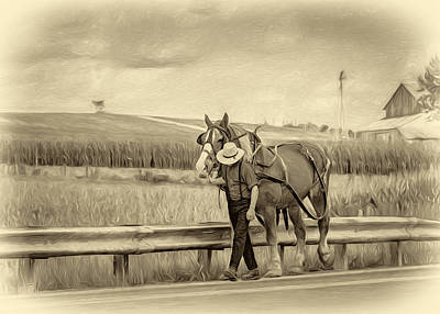 A Simple Life - Antique Sepia Poster by Steve Harrington