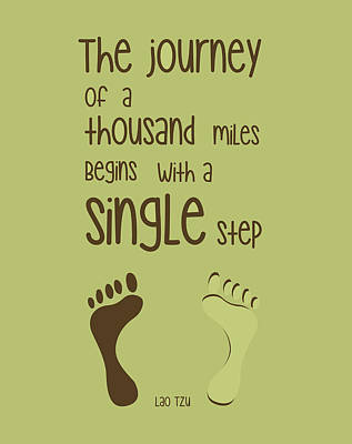 A Single Step Poster by Gina Dsgn
