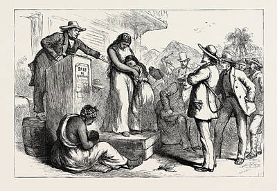 A Slave Auction, United States Of America Poster by American School