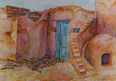 A Small Corner Of Taos Pueblo Poster by Ann Peck