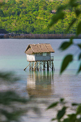 A Small Fishing House In The Water Poster