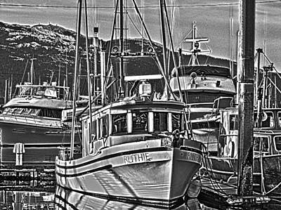 Poster featuring the photograph A Small Wooden Fishing Boat by Timothy Latta