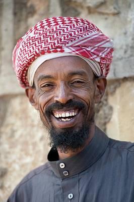 A Smiling Muslim Man In Harar Poster