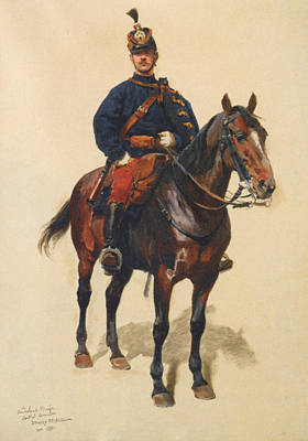 A Soldier Cavalerie Poster by Jean Baptiste Detaille