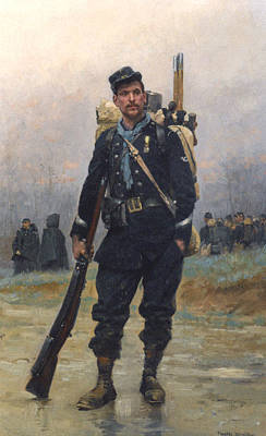 A Soldier With His Equipment Poster