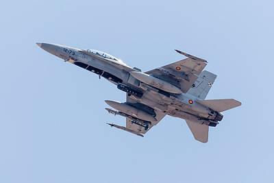A Spanish Air Force Fa-18b Hornet Poster