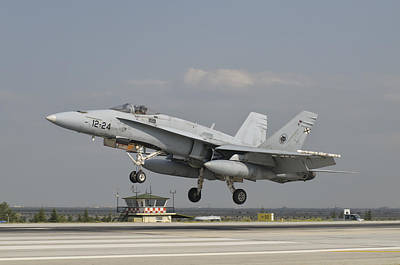 A Spanish Air Force Fa-18c Poster