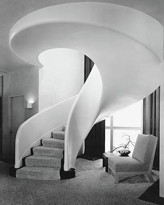 A Spiral Staircase Poster by  Hedrich-Blessing