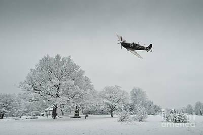 A Spitfire Winter  Poster by J Biggadike