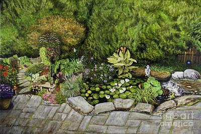 A Splendid Garden - Koi Pond Poster by Gail Darnell