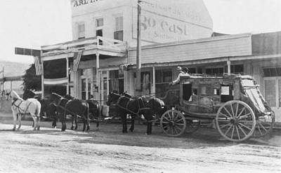 A Stagecoach In Tombstone Poster by Underwood Archives