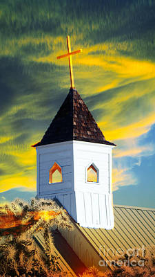 A Steeple Surrounded By The Glory Poster by Beverly Guilliams