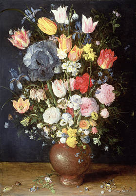 A Stoneware Vase Of Flowers, C.1607-8 Poster by Jan the Elder Brueghel