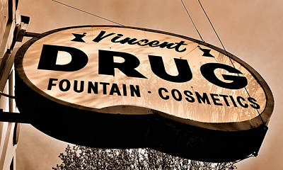 A Store For Everyone - Vintage Pharmacy Sign Poster by Steven Milner
