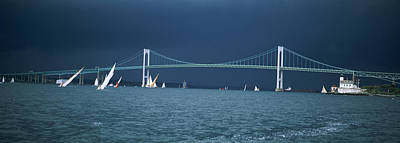 A Storm Approaches Sailboats Racing Poster