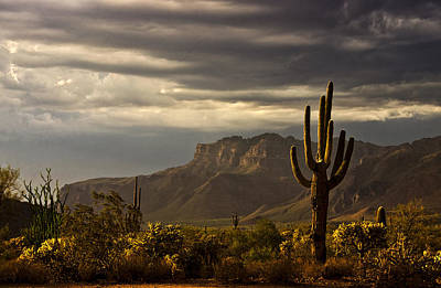 A Stormy Evening In The Superstitions  Poster by Saija  Lehtonen