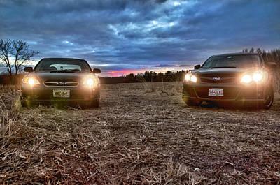 A Subaru Sunset Poster