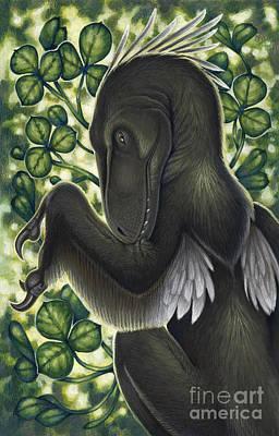 A Suspicious Deinonychus Antirrhopus Poster by H. Kyoht Luterman
