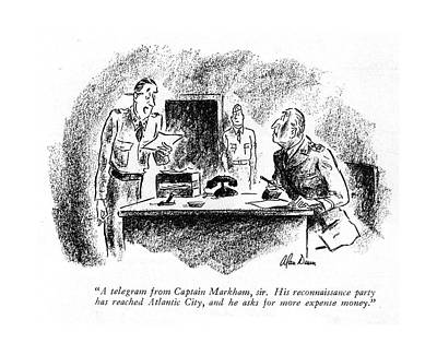 A Telegram From Captain Markham Poster