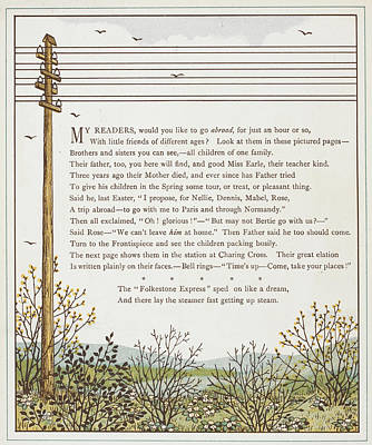 A Telegraph Pole Poster by British Library