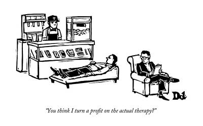 A Therapist's Office With A Concession Stand Poster by Drew Dernavich