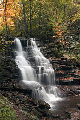 A Touch Of Autumn At Erie Falls Poster