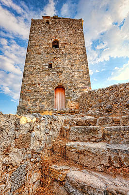 A Tower In Kardamyli - Greece Poster