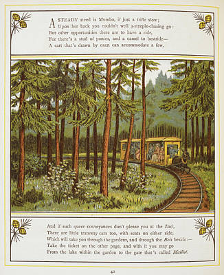 A Tramway Pulled By A Donkey Poster by British Library