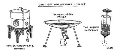 A Triptych Of Eccentric Coffee Devices Poster by Tom Chitty