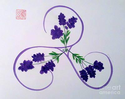 A Triskele Of Lavender Poster