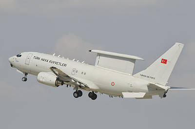 A Turkish Air Force Boeing 737 Aew Poster by Giovanni Colla