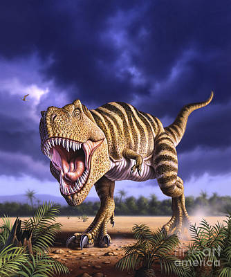 A Tyrannosaurus Rex Attacks, Lit Poster