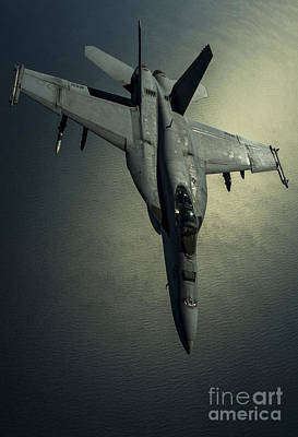 A U.s. Navy Fa-18e Hornet Poster by Stocktrek Images