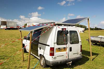 A Van With Solar Panels Attached Poster by Ashley Cooper