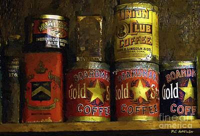 A Variety Of Vintage Tins Poster